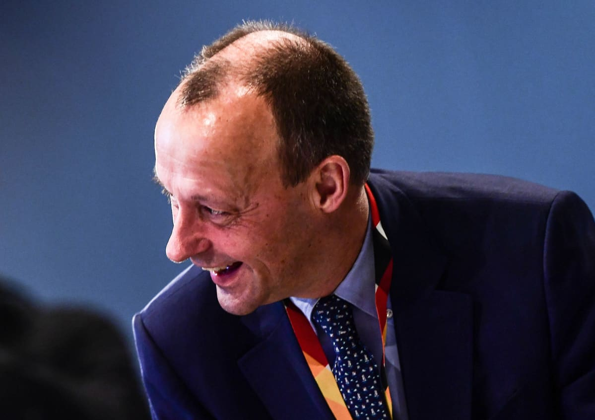 Friedrich Merz CDU:n kokouksessa Leipzigissa viime marraskuussa.