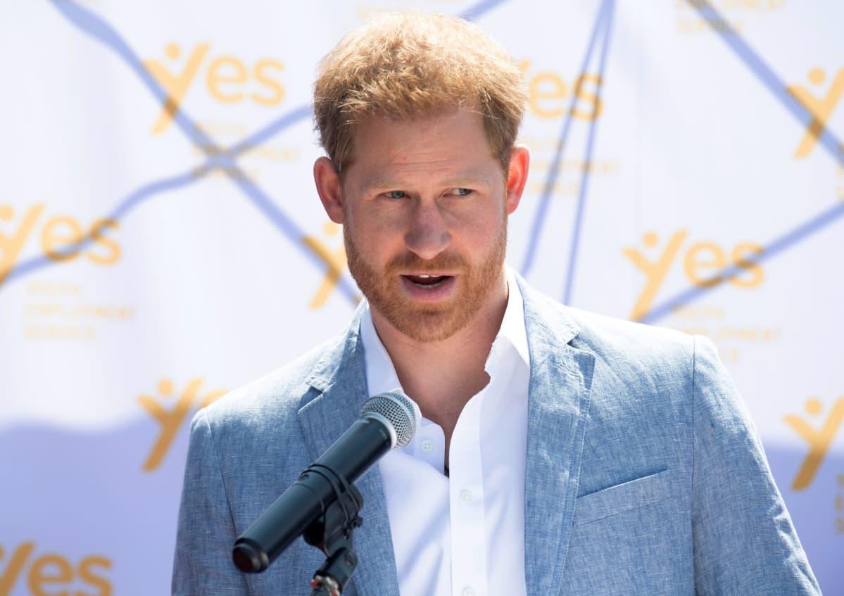 Britannian prinssi Harry Johannesburgissa Etelä-Afrikassa 2.10.2019.