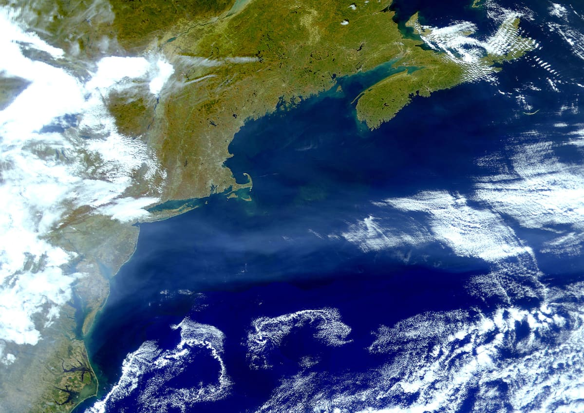 Satelliittikuva Golfvirrasta.