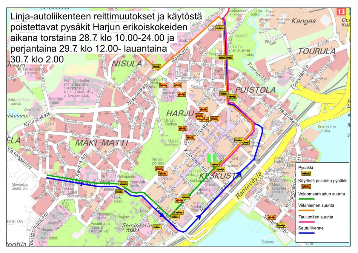 Ralli Muuttaa Joukkoliikenteen Reitteja Jyvaskylassa Yle Uutiset
