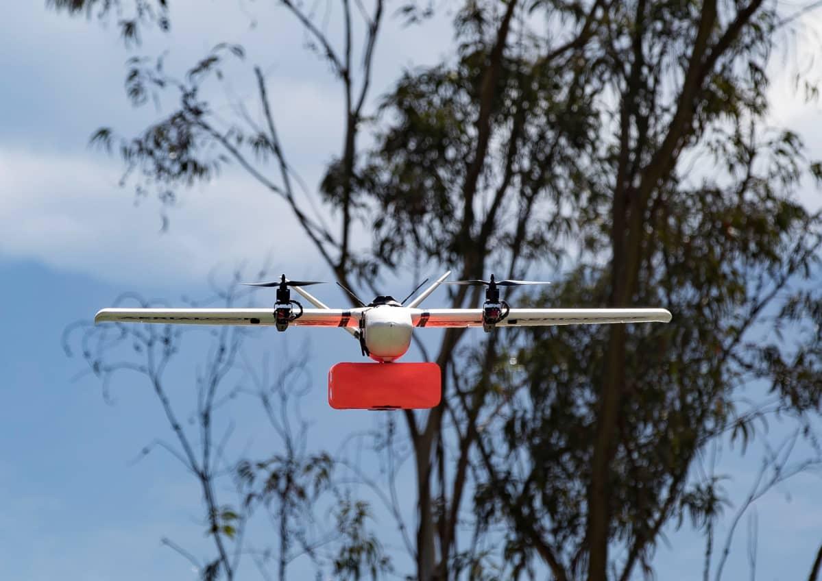 Drooneja testataan tavaratoimituksissa Quitossa, Ecuadorissa lokakuun puolivälissä.