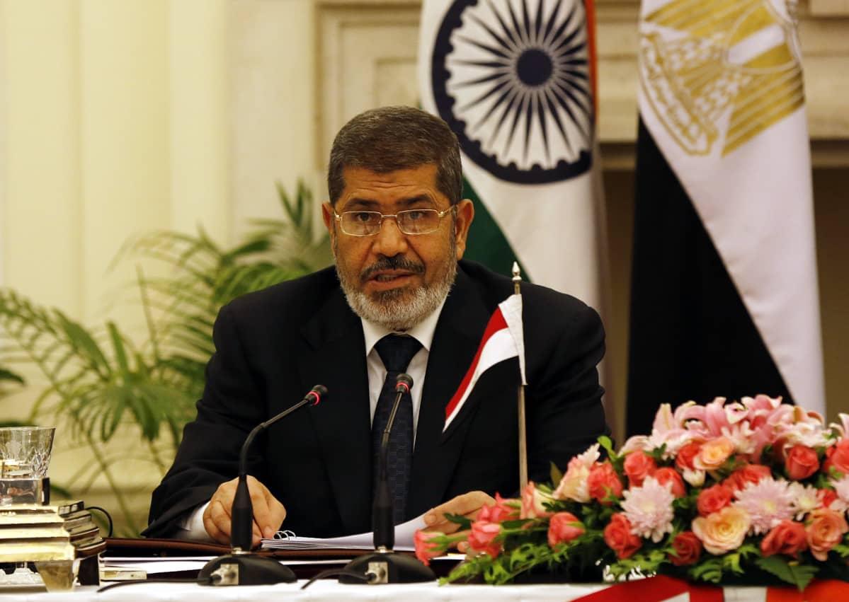 Egyptin entinen presidentti Mohammed Mursi Intiassa vuonna 2013.