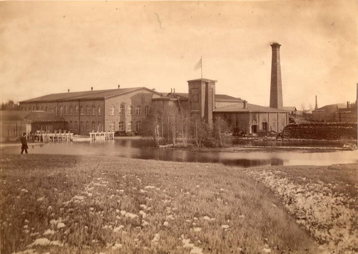 Forssan kehräämö vuonna 1879.