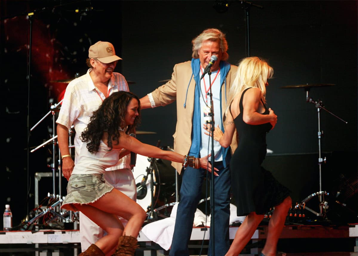 Ellen Jokikunnas, Peter Nygård ja Pamela Anderson.