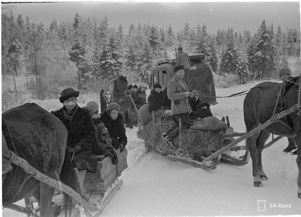 Evakointia Kannaksella sodan alkupäivinä 01121939