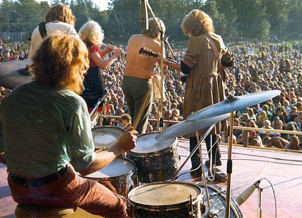 Charlies esiintymässä Ruisrockissa vuonna 1970.