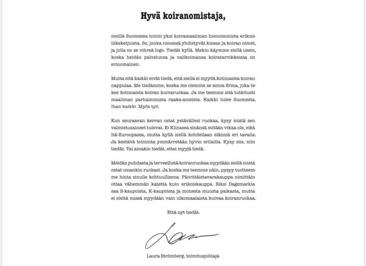 Dagsmarkin mainos Helsingin Sanomissa