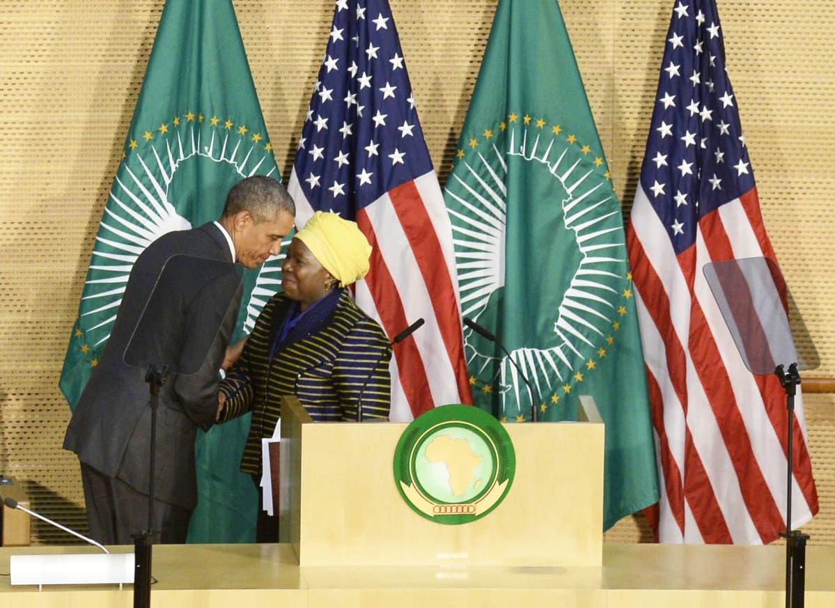 Barak Obama ja Dlamini-Zuma