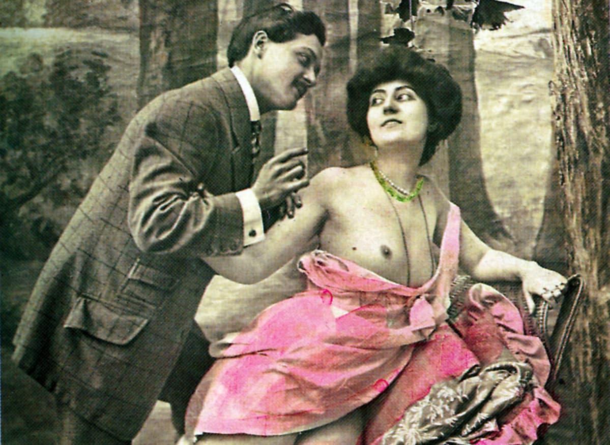 prostituoitu ja asiakas vanhassa kuvassa