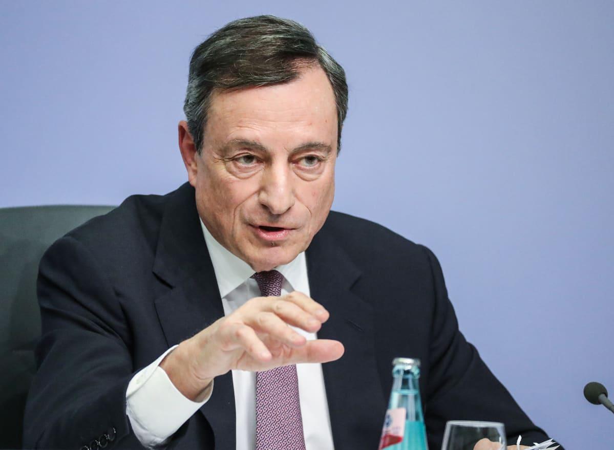 Mario Draghi, Euroopan keskuspankin pääjohtaja.