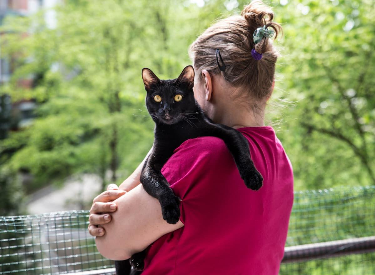 Nainen ja kissa saa käyttää vain Kaisu Janssonin jutussa