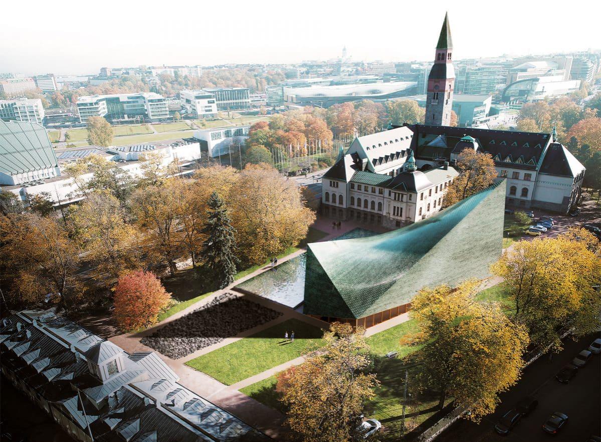 Kansallismuseon lisärakennusehdotus Kerkkä