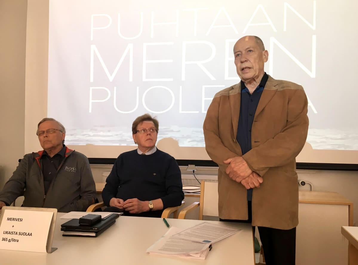 Tapio Hacklin, Seppo Mäkinen ja Jyrki Kangas