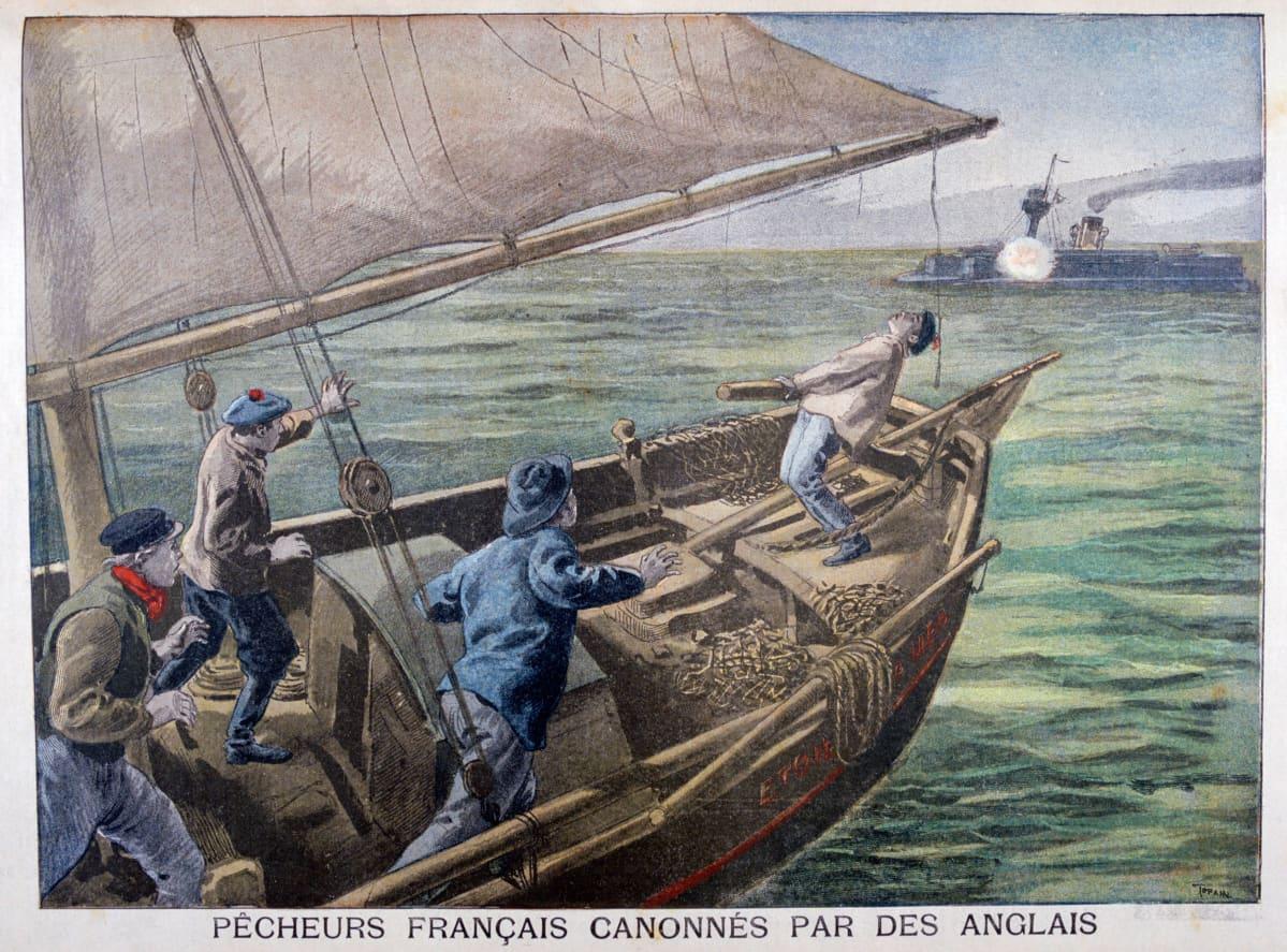 Kalastusvene, tykki, Englannin kanaali