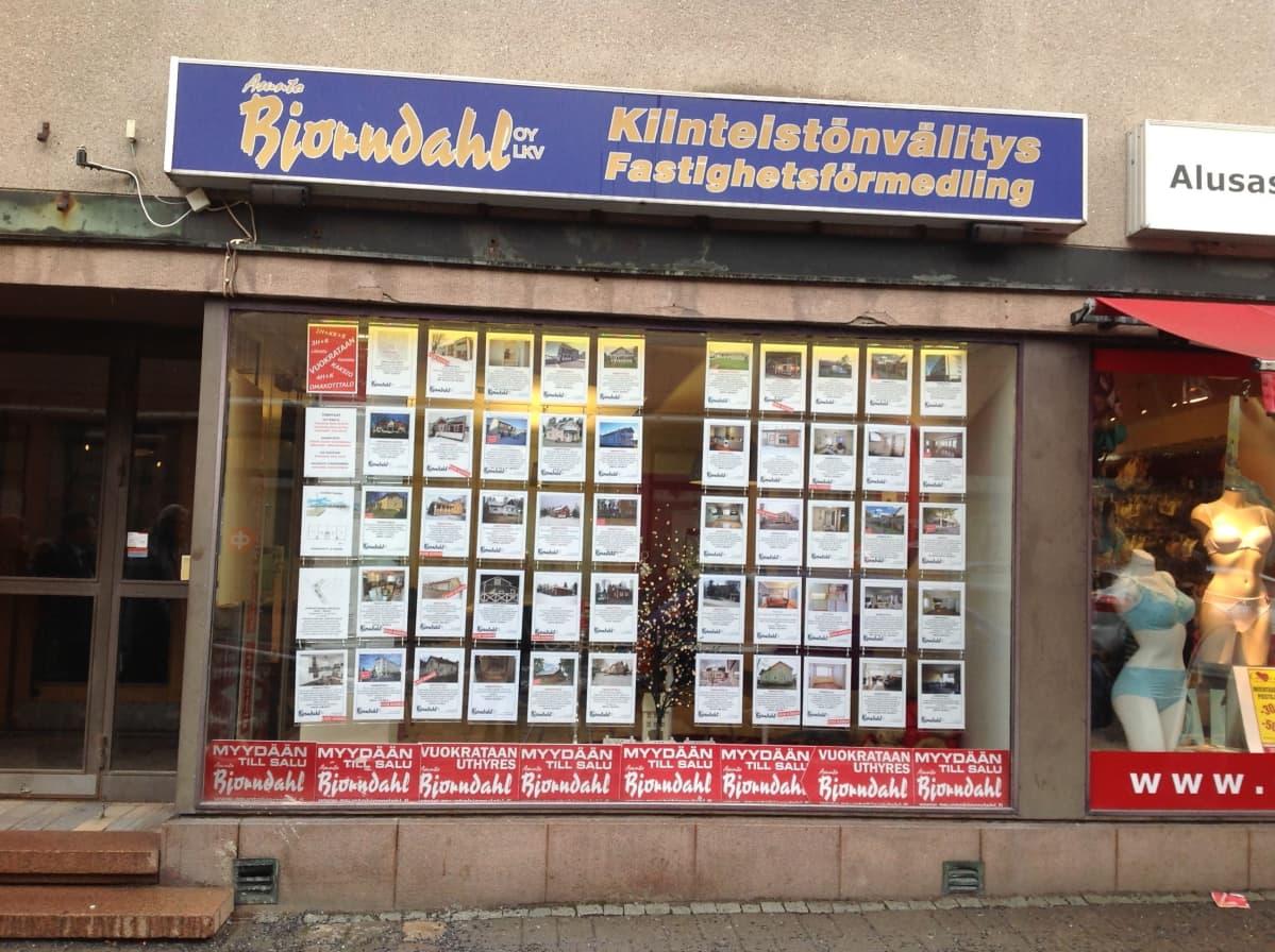 Asunto Björndahlin näyteikkuna.