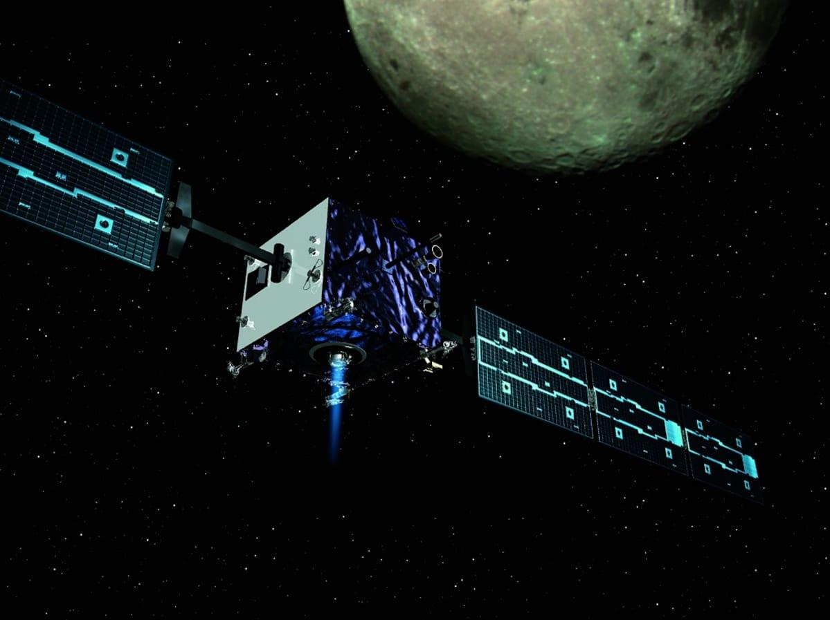 Piittoskuva luotaimesta Kuun kiertoradalla.