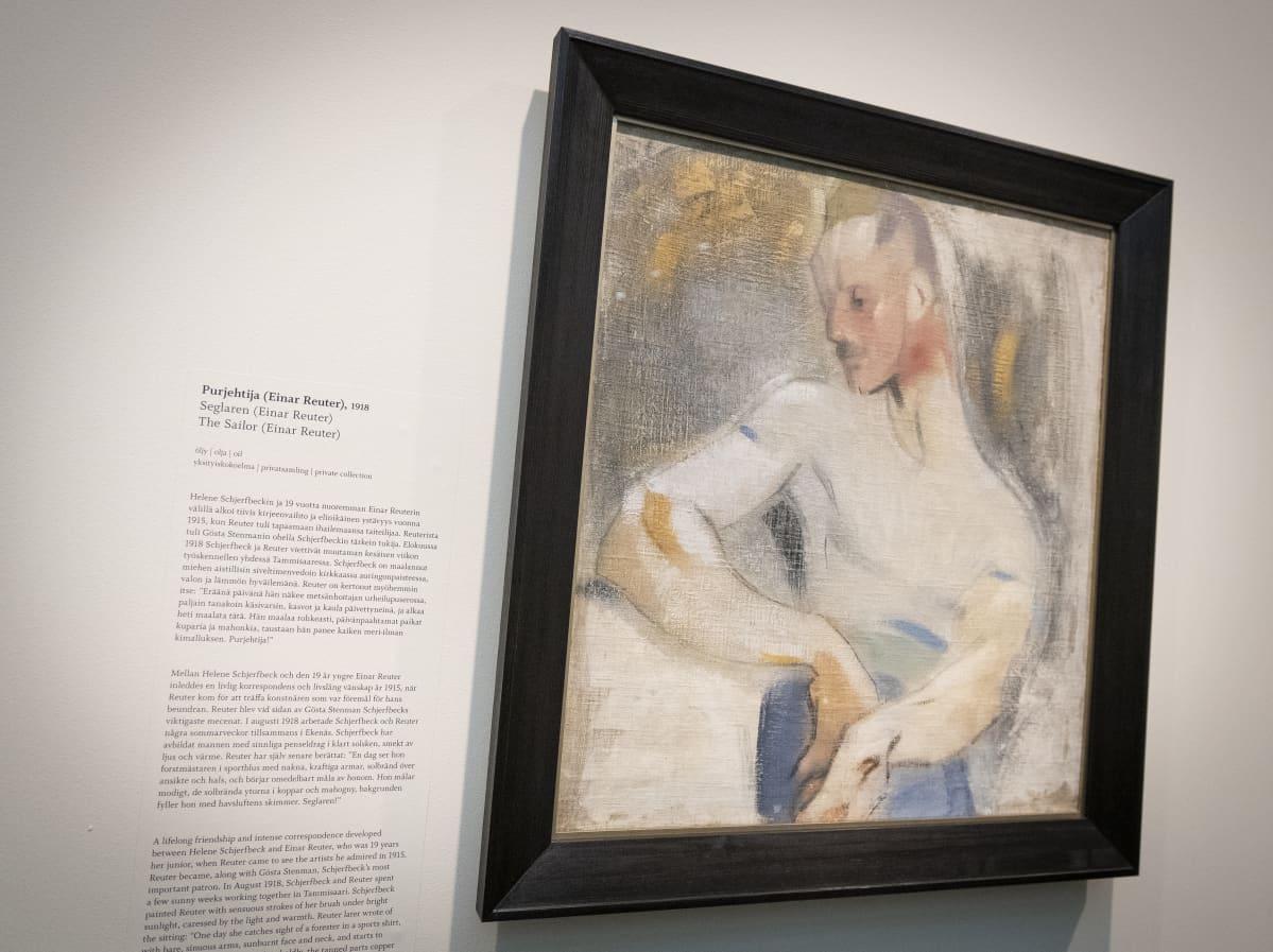 Helene Schjerfbeckin näyttely Ateneumin taidemuseossa. Purjehtija-teos