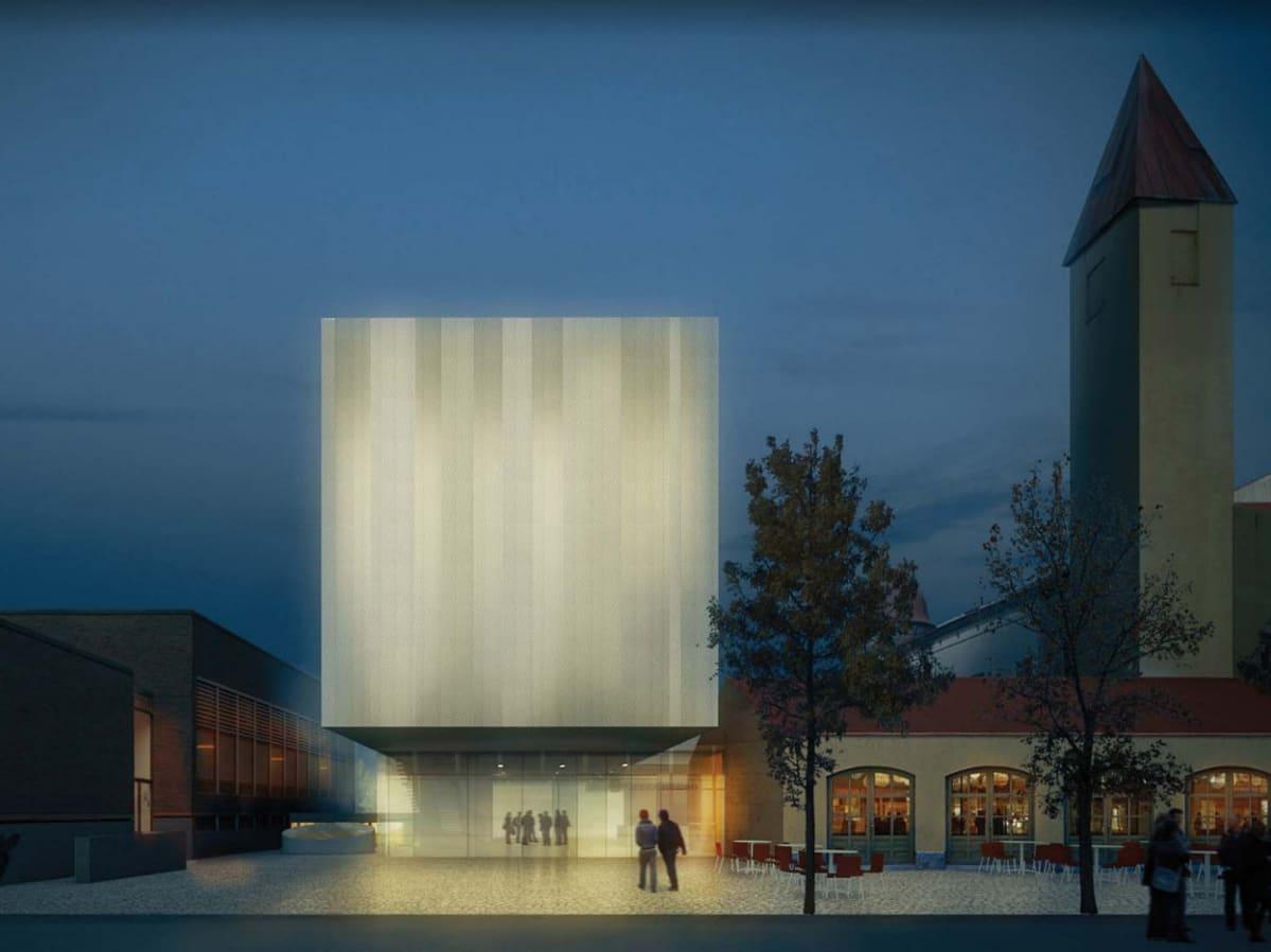 Havainnekuva Kuopion museon arkkitehtuurikilpailun voittajasta.