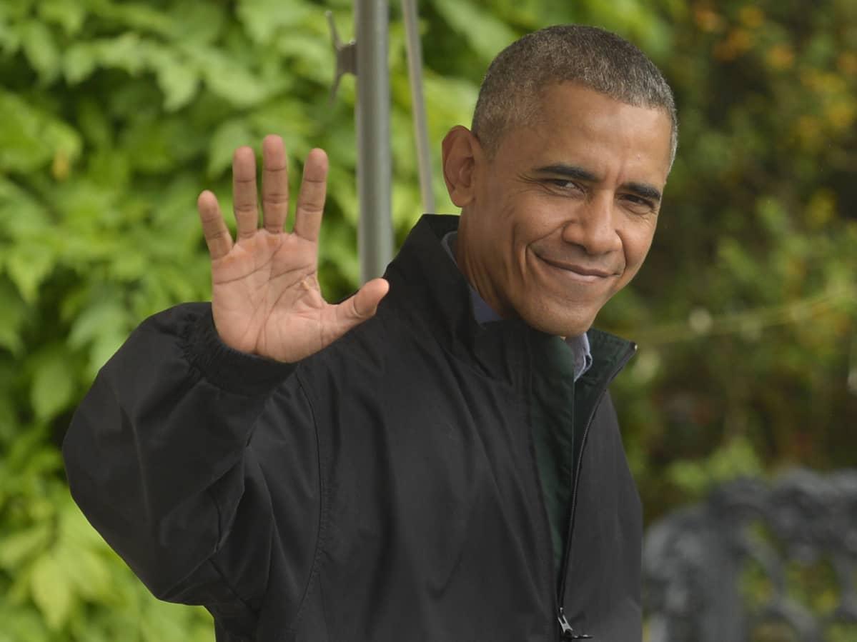 Presidentti Barack Obama Washingtonissa lähdössä viikon mittaiselle matkalle Aasiaan 21. toukokuuta.