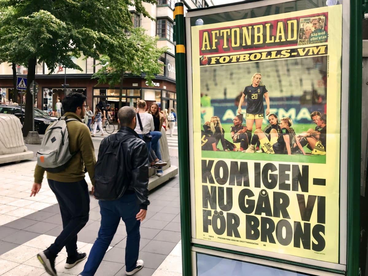 Tukholma, naisten Ruotsi-Hollanti jalkapallo-ottelu, Aftonbladet