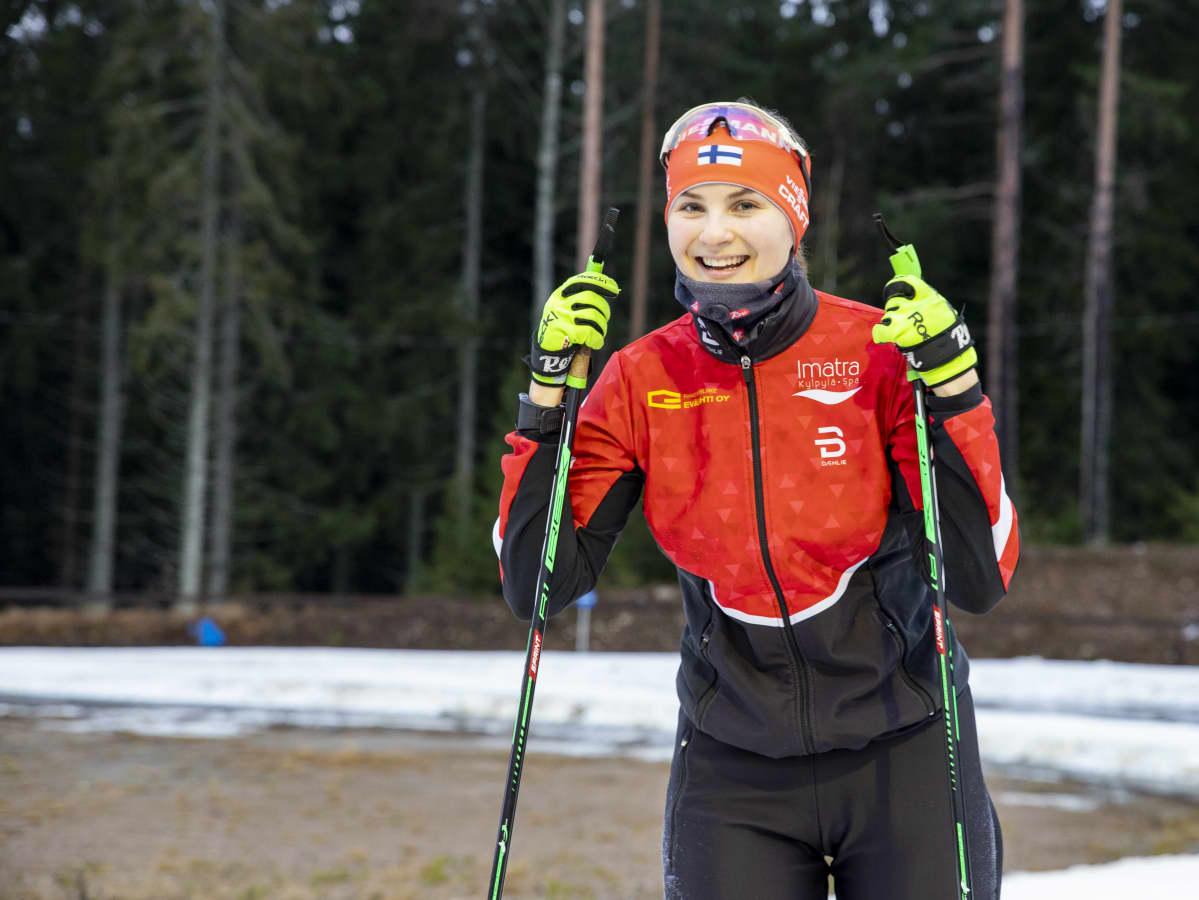 Imatran hiihtäjien ampumahiihtäjä Maija Keränen.