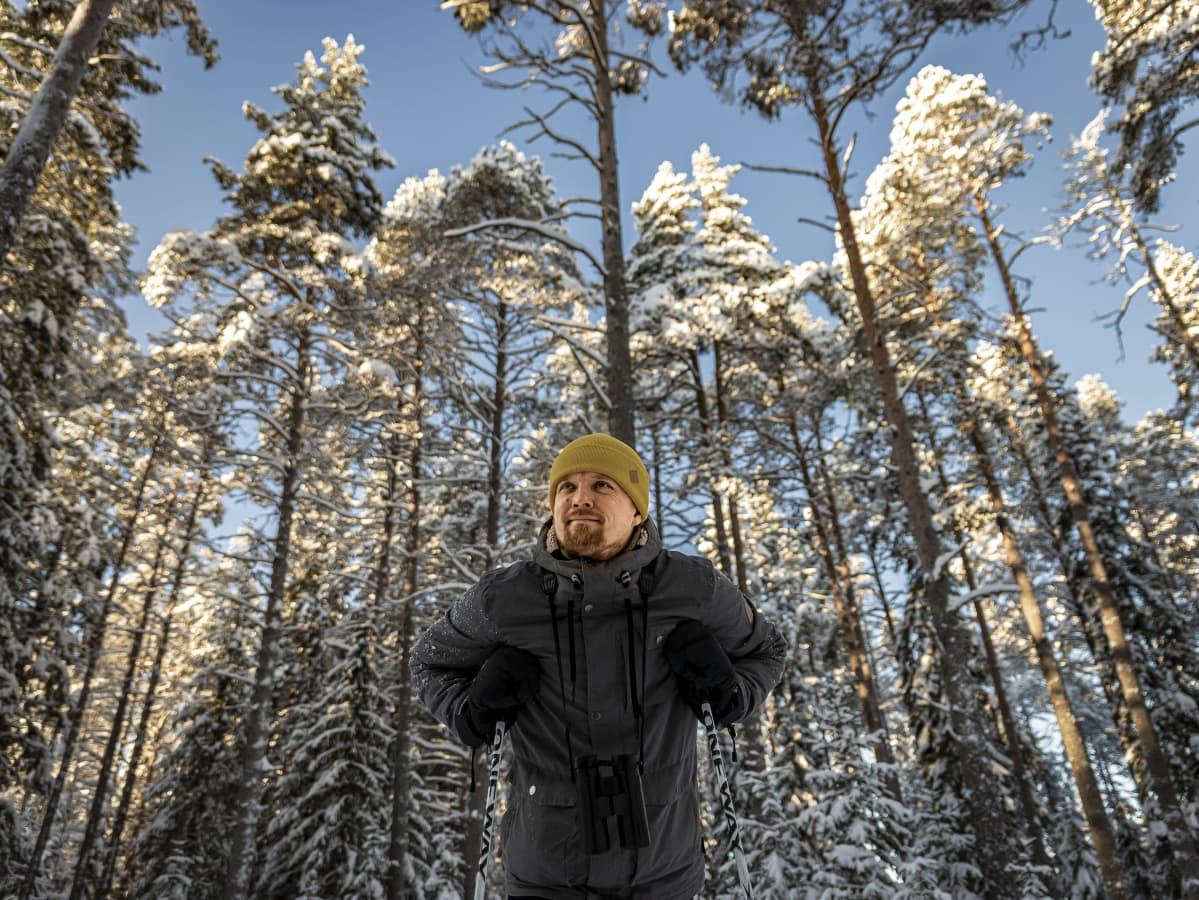 Ari-Pekka Auvinen ihailee Sanginjoella metsää
