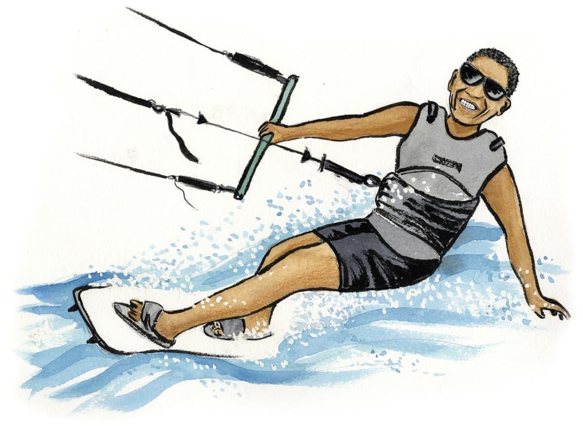Barack Obama varjosurffaa -piirros