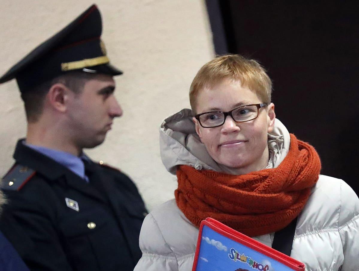 Valkovenäläinen Tut.byn sivuston päätoimittaja Marina Zolotova.