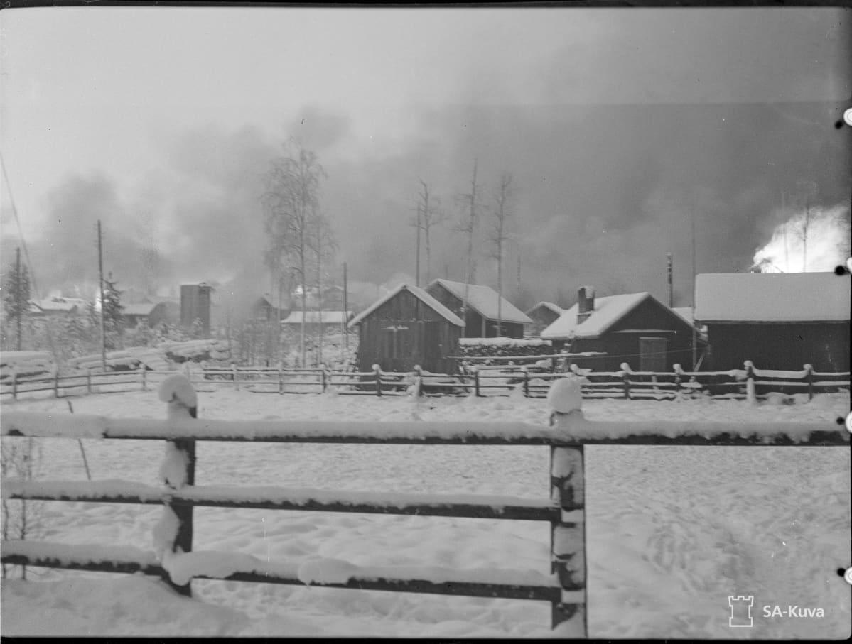 Suvilahti palaa 2.12.1939
