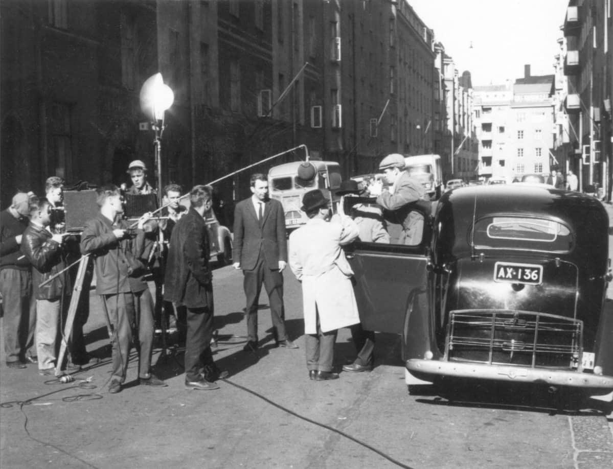 Kaasua, komisario Palmu -elokuvaa kuvattiin muiden Palmu-elokuvien tapaan Helsingin kantakaupungissa.