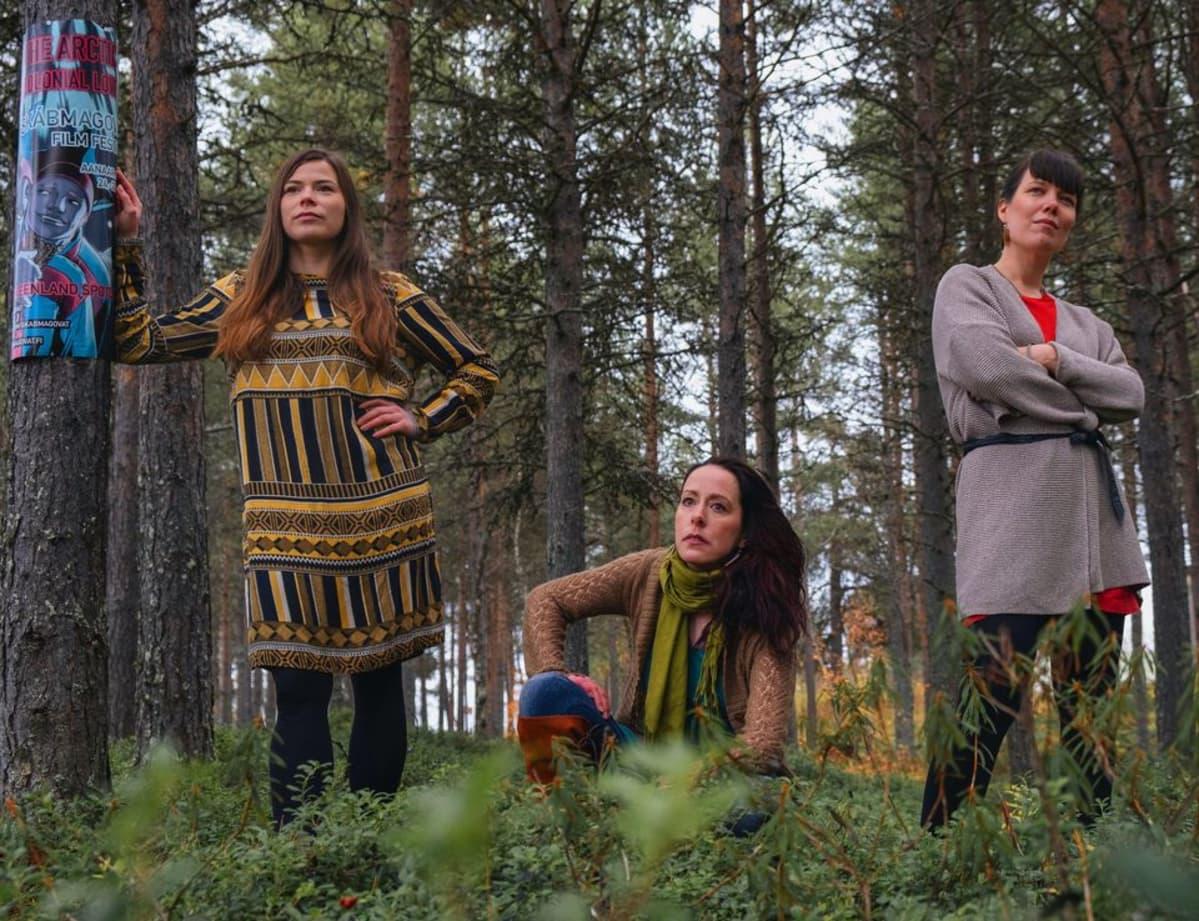 Anni Koivisto, Taru Arrela ja Tiina-Maria Aalto.