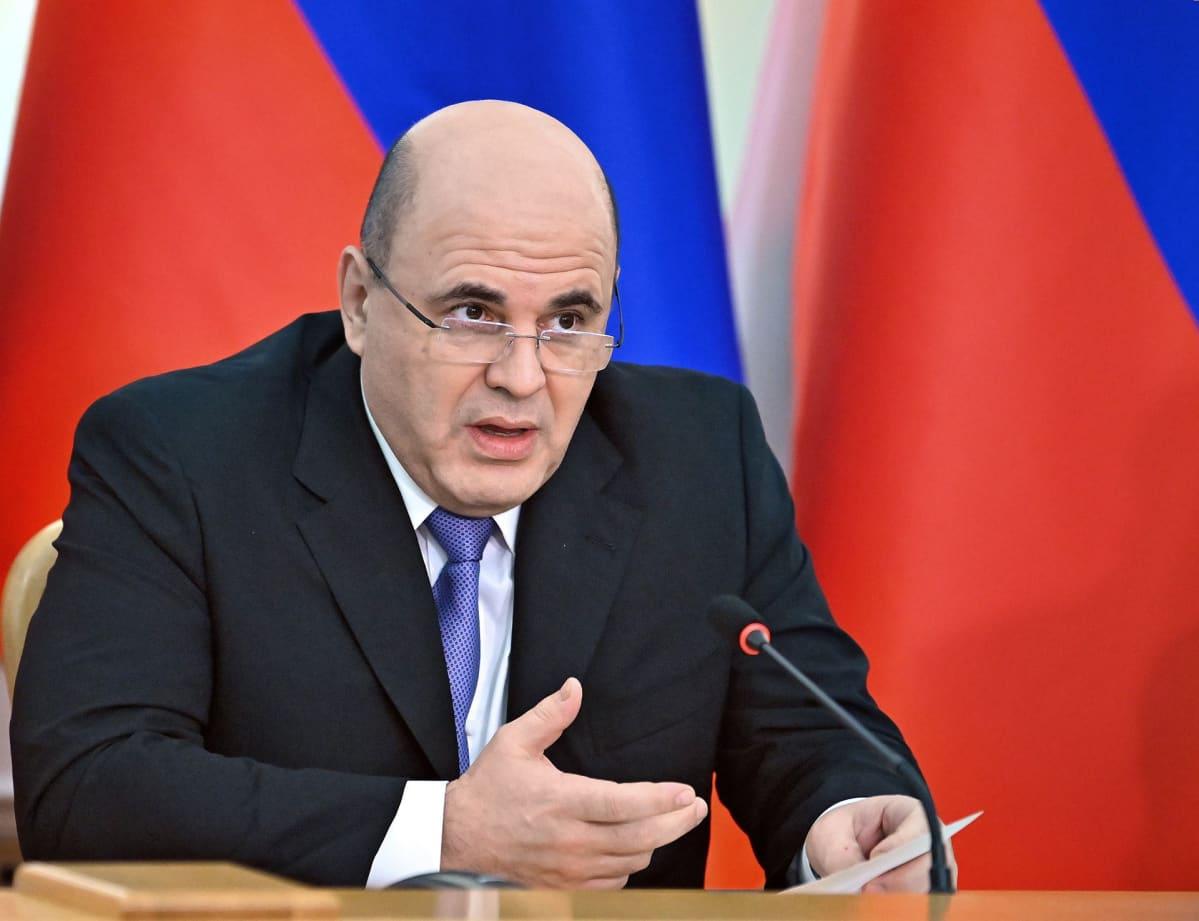 Venäjän pääministeri Mihail Mišustin.