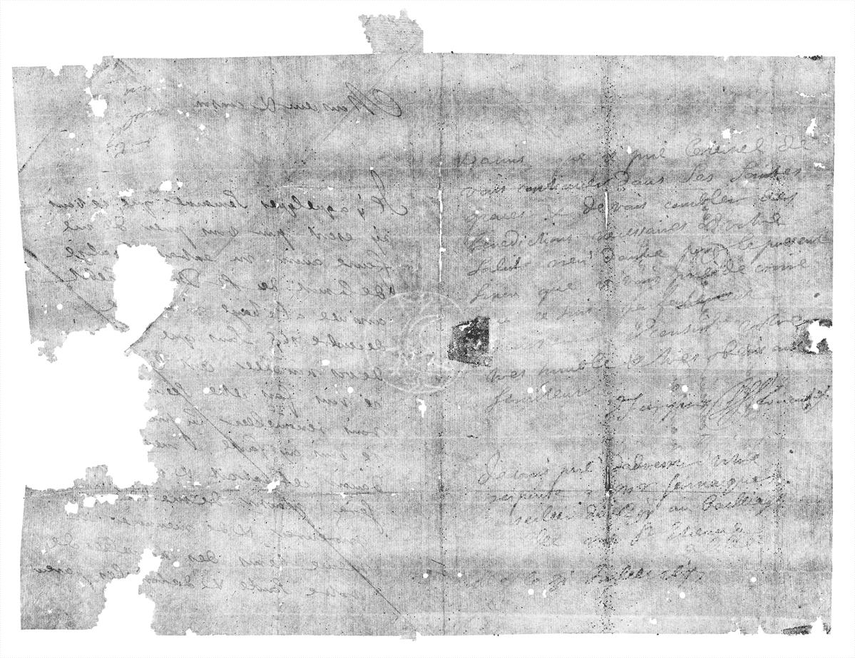 Brienne-arkusta löytynyt skannaamalla avattu kirje.