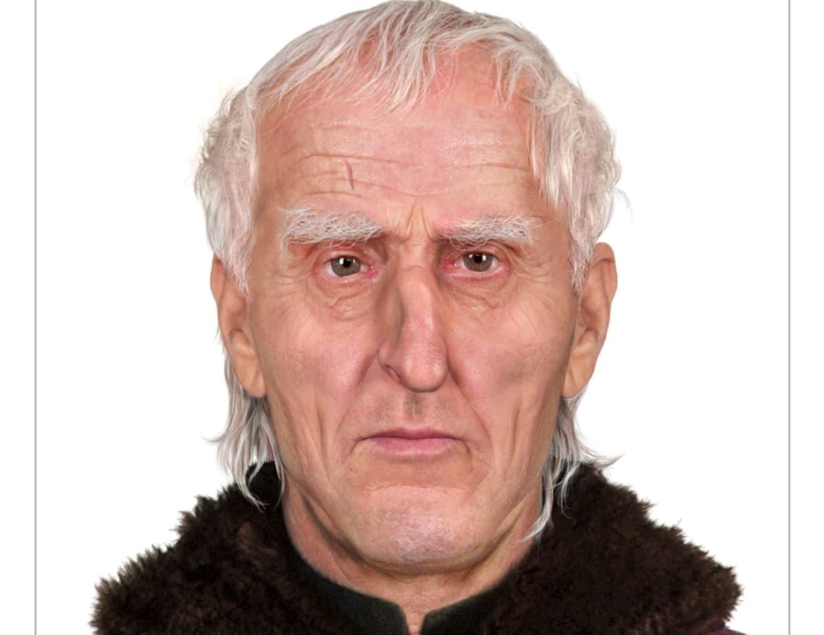 Vanhan valkotukkaisen miehen kasvot.