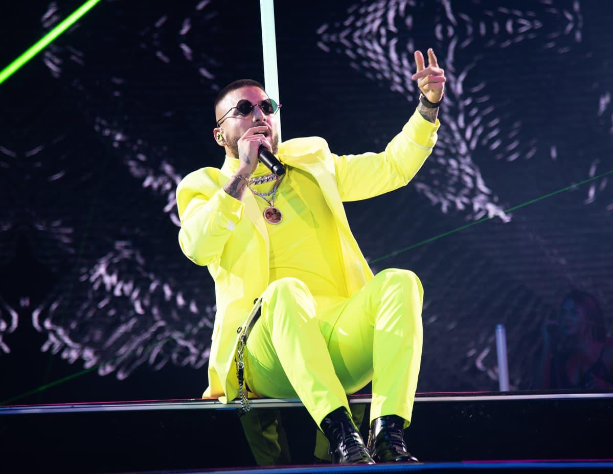 Maluma konsertissa Miamissa lokakuussa 2019.