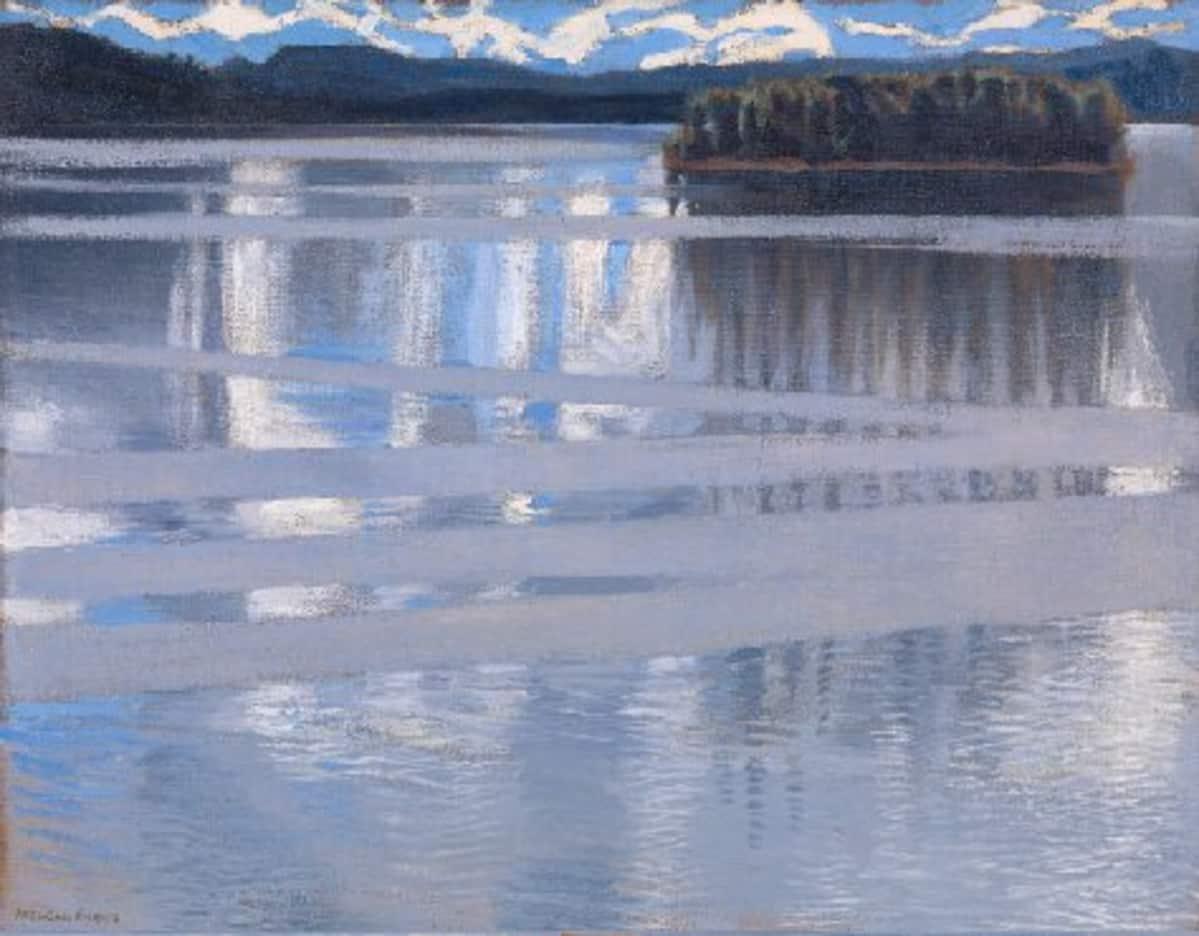 Yksi neljästä Keitele-maalauksesta on Gallen-Kallelan museon hallussa.