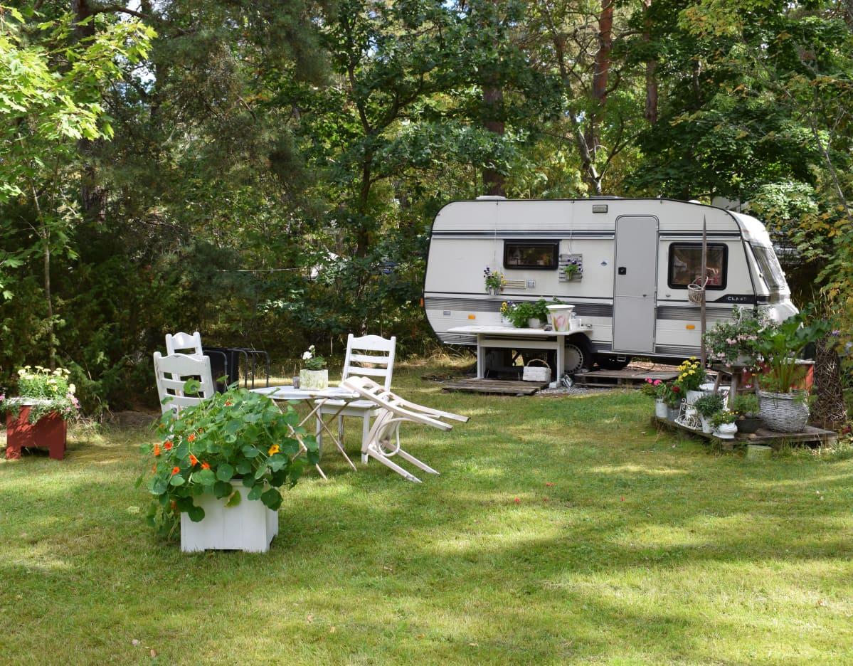 Matkailuvaunu, Turun Ruissalo Camping.
