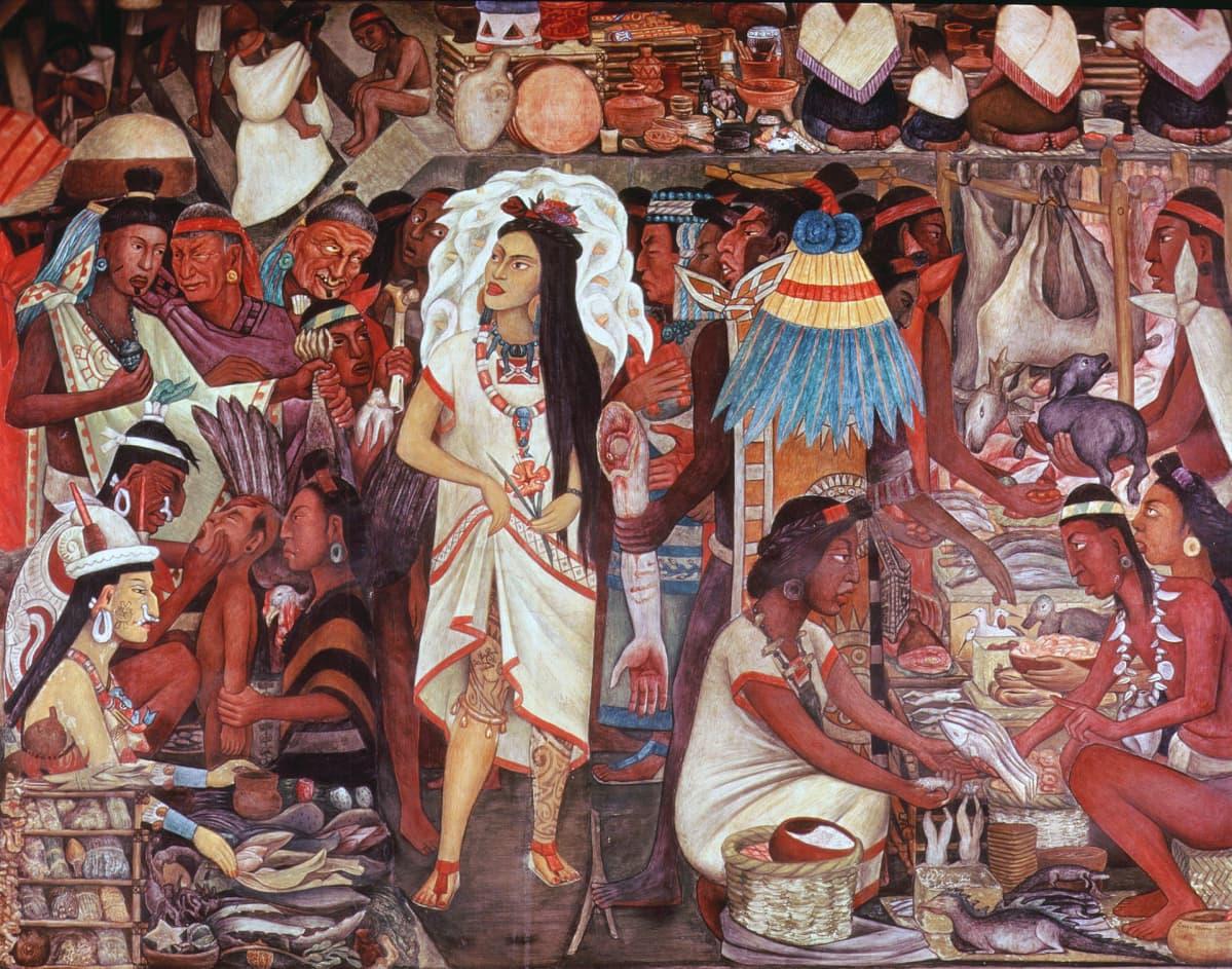 atsteekkien seinämaalauksesta osa