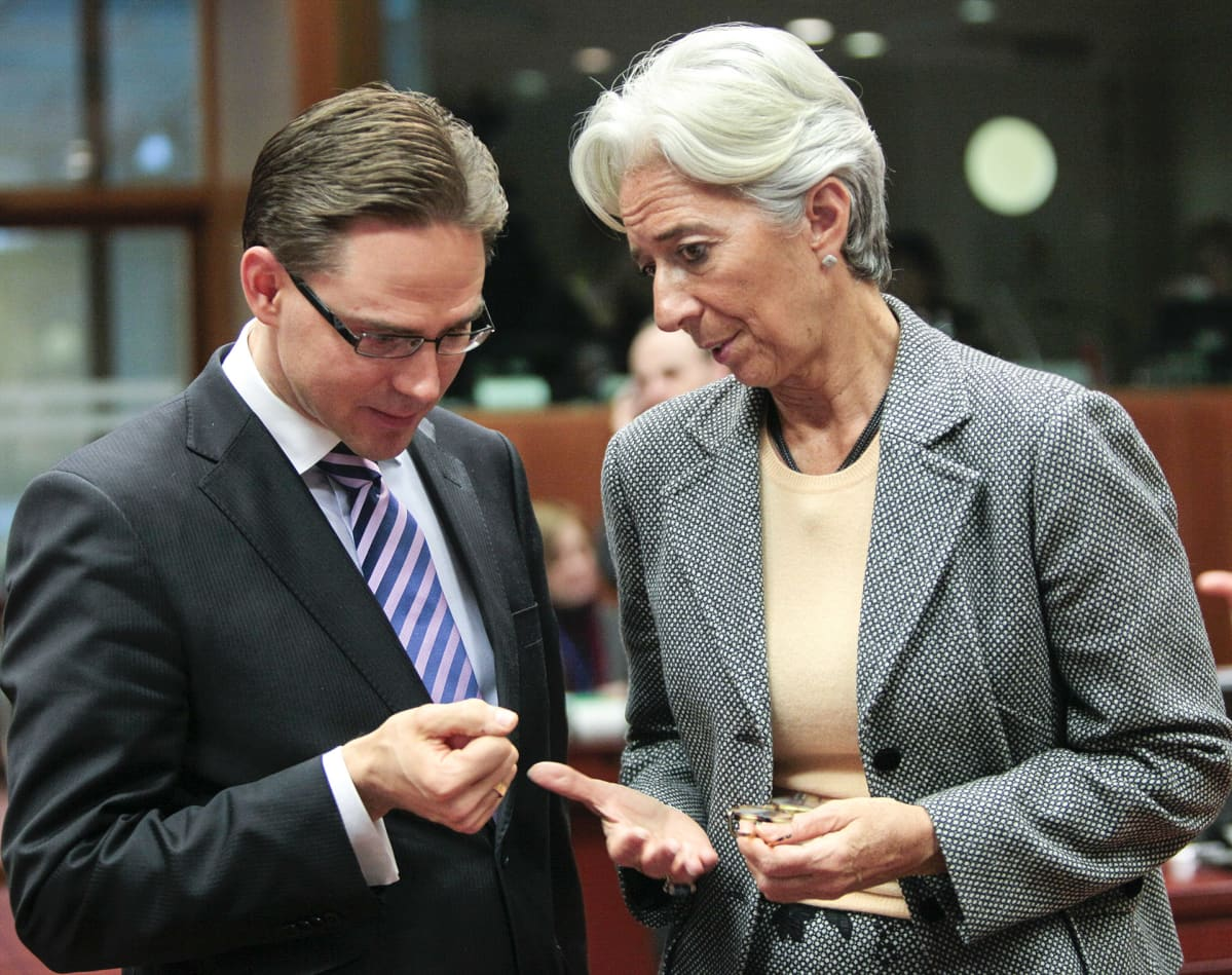 Jyrki Katainen ja Christine Lagarde.