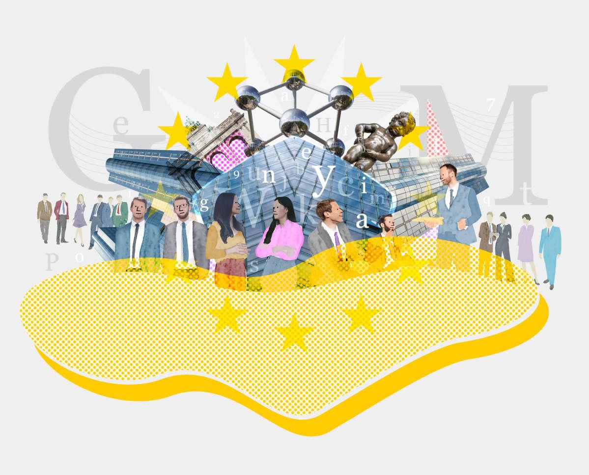 Kuvituskuva EU:n lobbariarmeijasta.