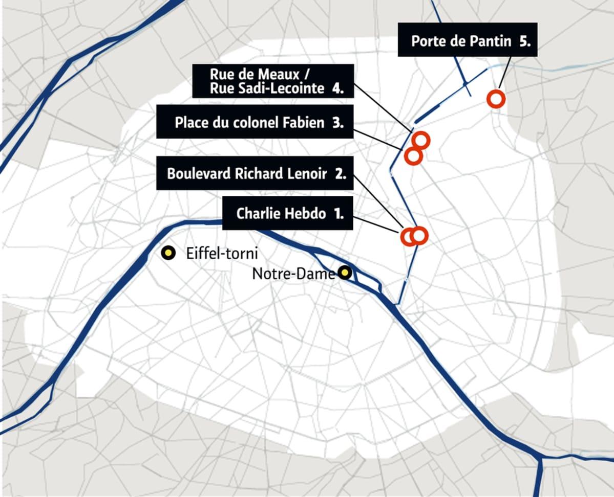 Pariisin Terrori Iskun Tapahtumapaikat Yle Uutiset Yle Fi