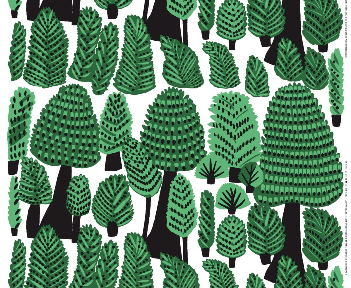 Metsänväki -kangas.