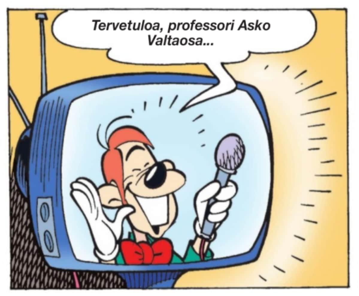 Aku Ankassa esiintyy aika ajoin tunnettuja suomalaisia professoreita. Esimerkiksi Asko Valtaosa eli Esko Valtaoja.