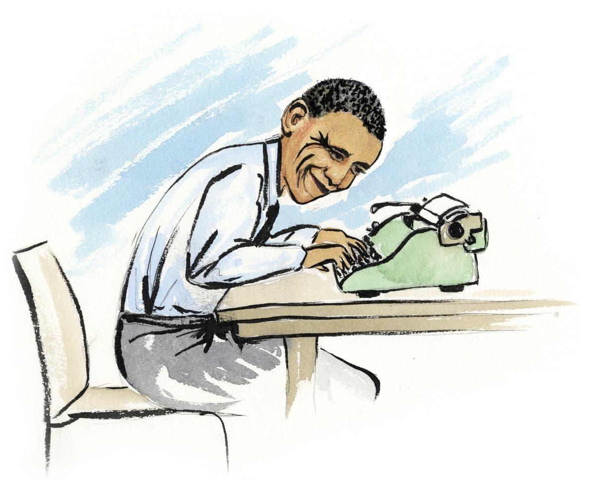 Barack Obama kirjoittaa muistelmiaan.