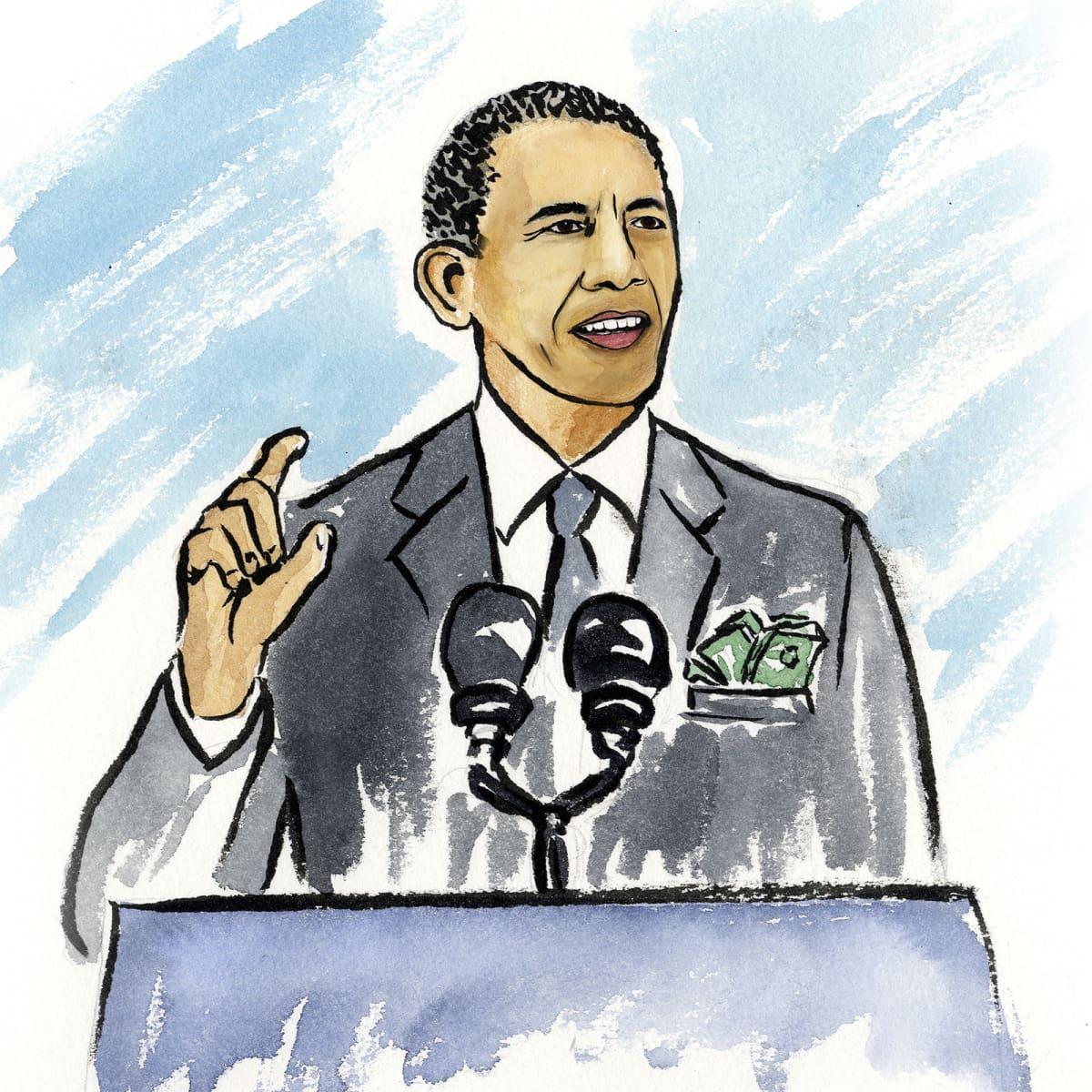 Barack Obama pitää puhetta