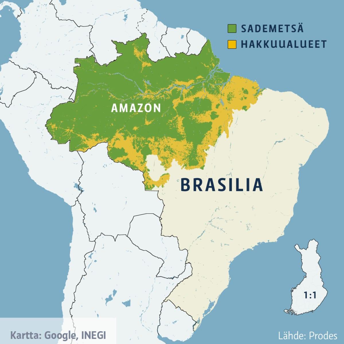 Brasilian kartta