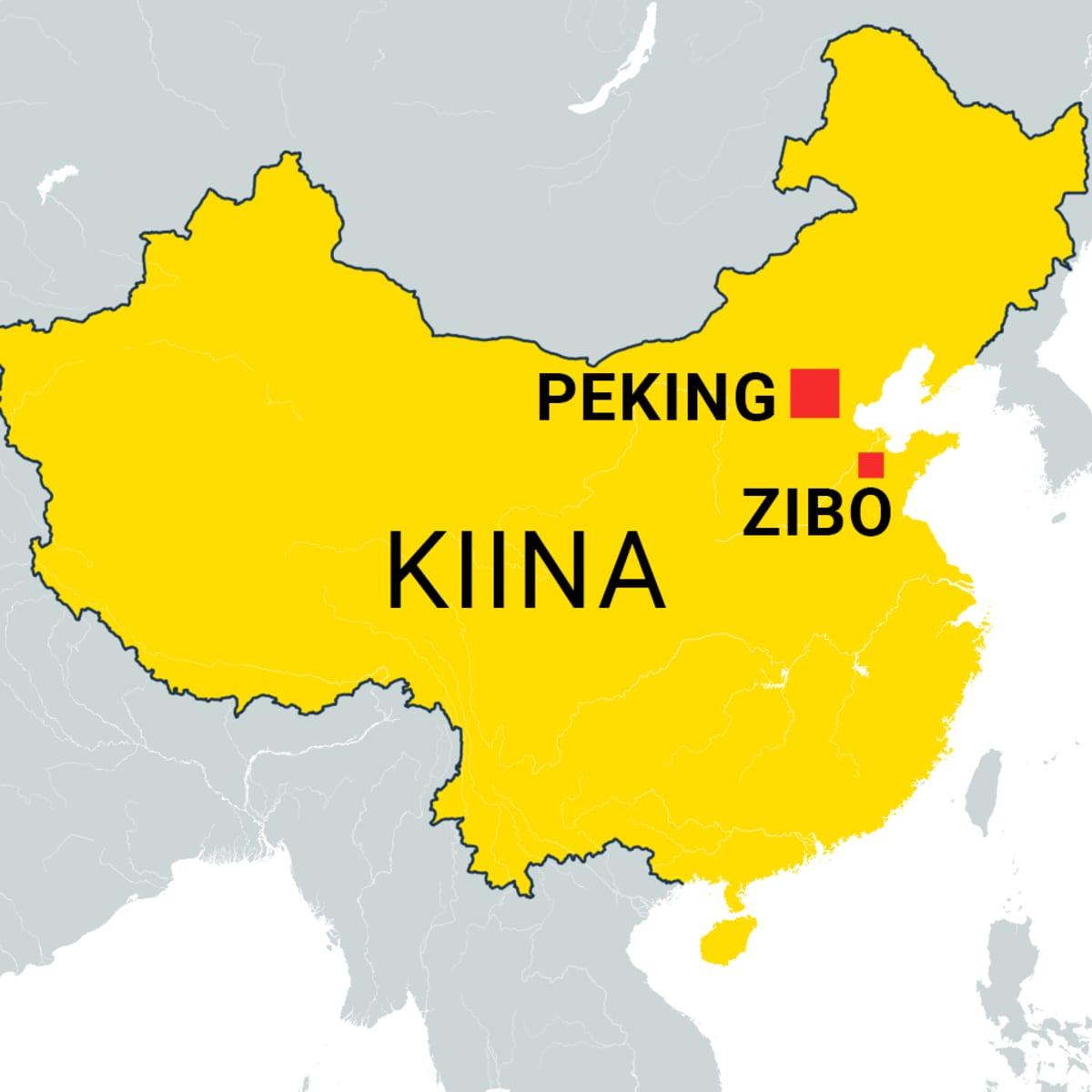 Kiinan kartta, Peking ja Zibo