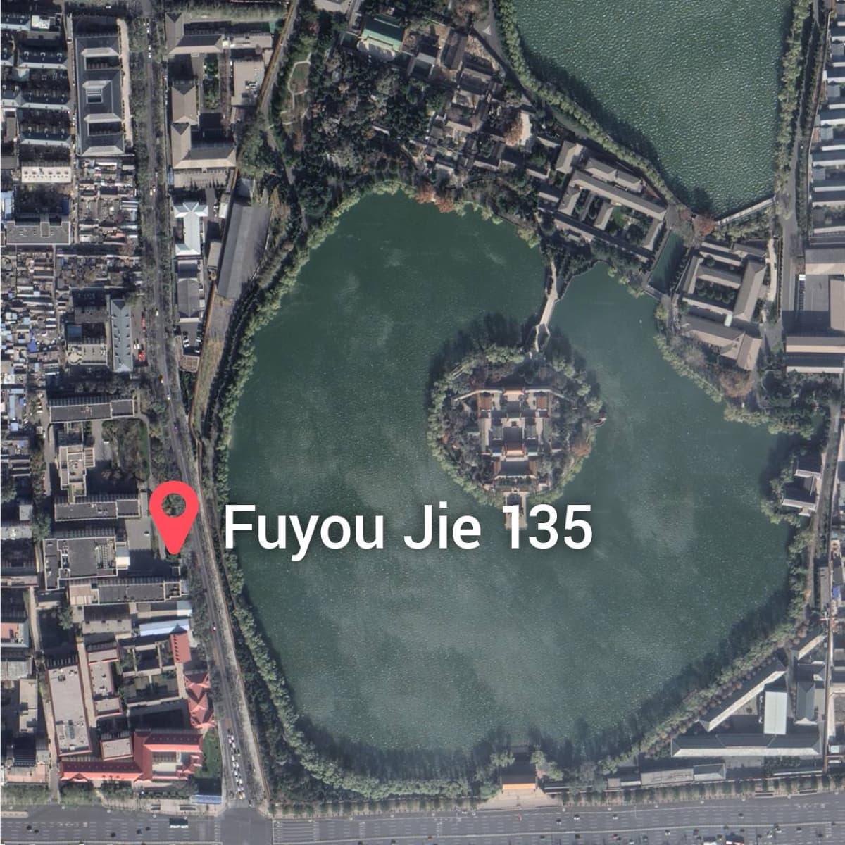 Satelliittikuva Pekingin keskustasta.