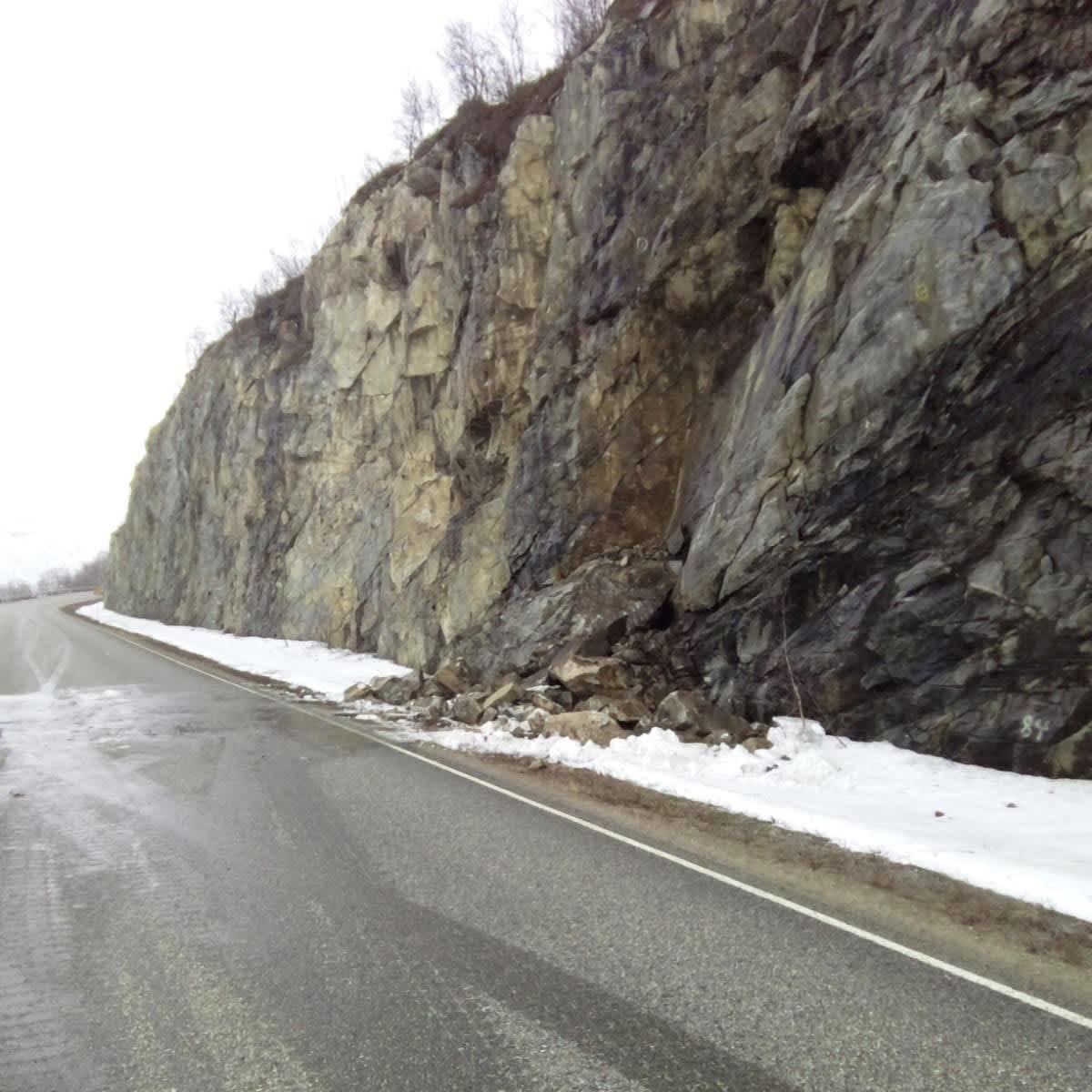 Kalliota sortui Utsjoen Kirkkopahdassa 14.5.2020