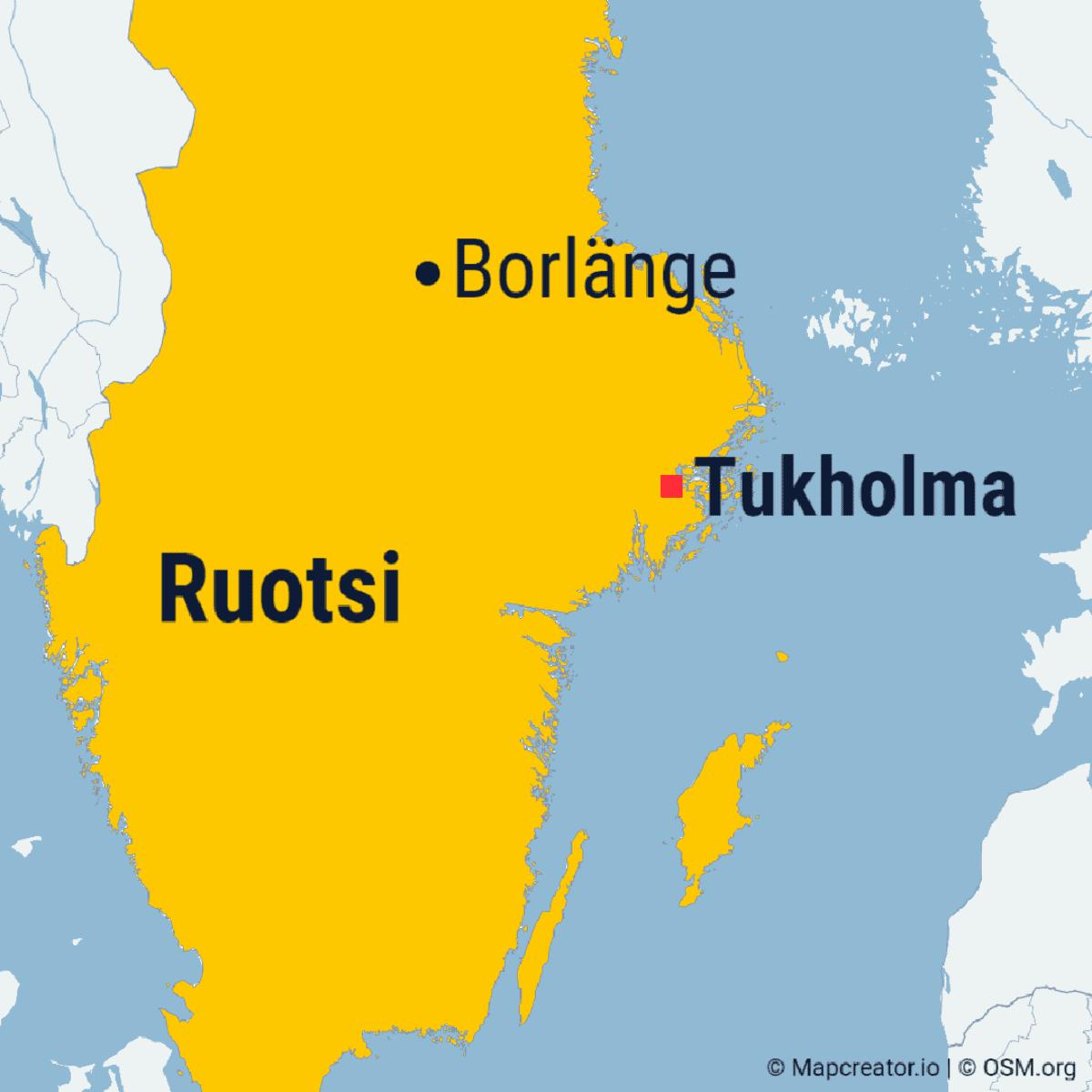 Borlänge Ruotsin kartalla.